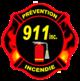 Prévention incendie 911 Logo